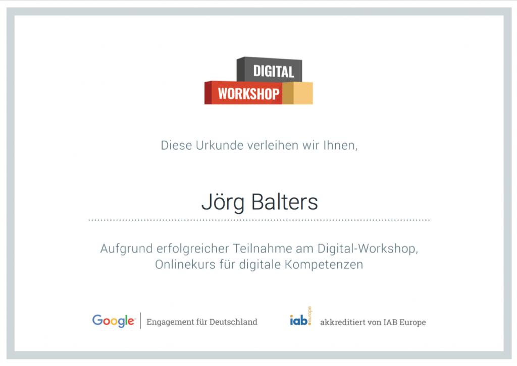 Google Zertifizierung