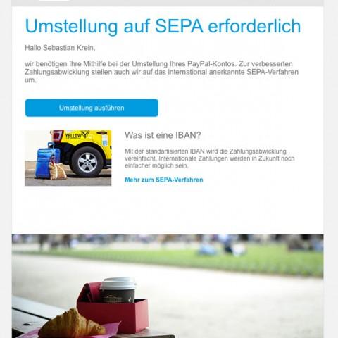 Paypal Phishing-Mail