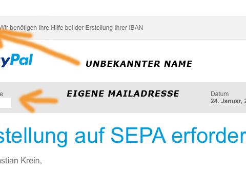 Paypal Phishing-Mail 2