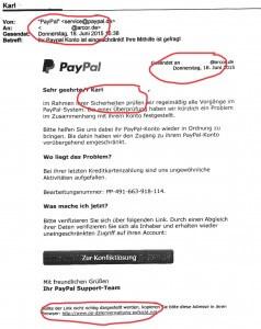 Paypal Phishing Mail